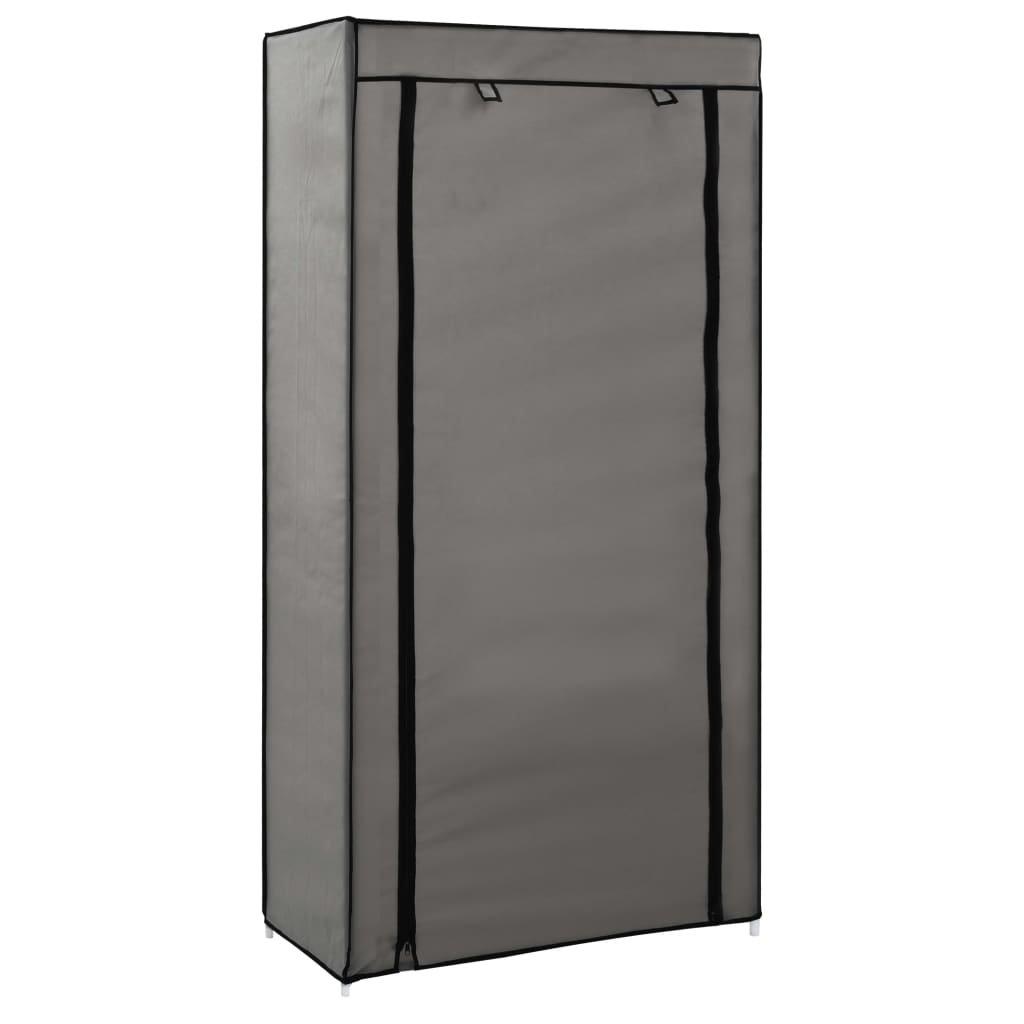 Botník s potahem - šedý | 58x28x106 cm