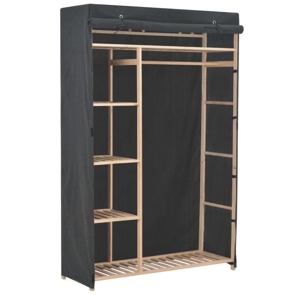 Šatní skříň - textil - šedá   110x40x170 cm