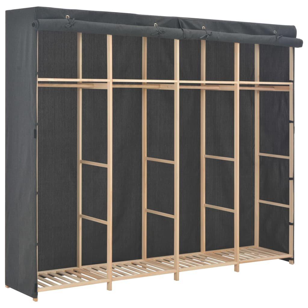Šatní skříň - šedá - textil | 200x40x170 cm