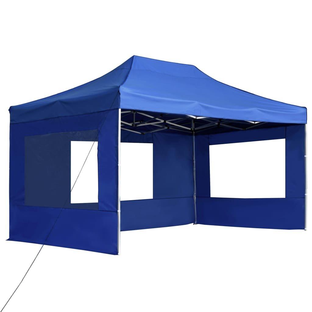 Profesionální skládací party stan + stěny hliník - modrý | 4,5x3 m