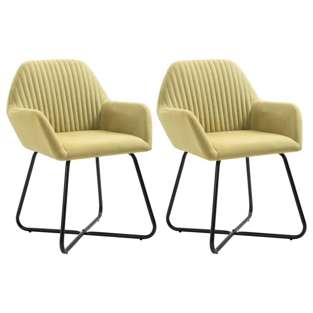 Jídelní židle Gruver - 2 ks - textil   zelené