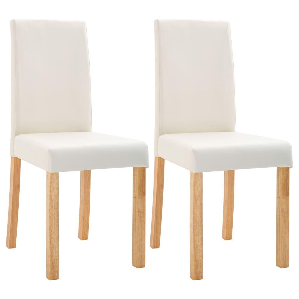 Jídelní židle Lohn - 2 ks - umělá kůže | krémové