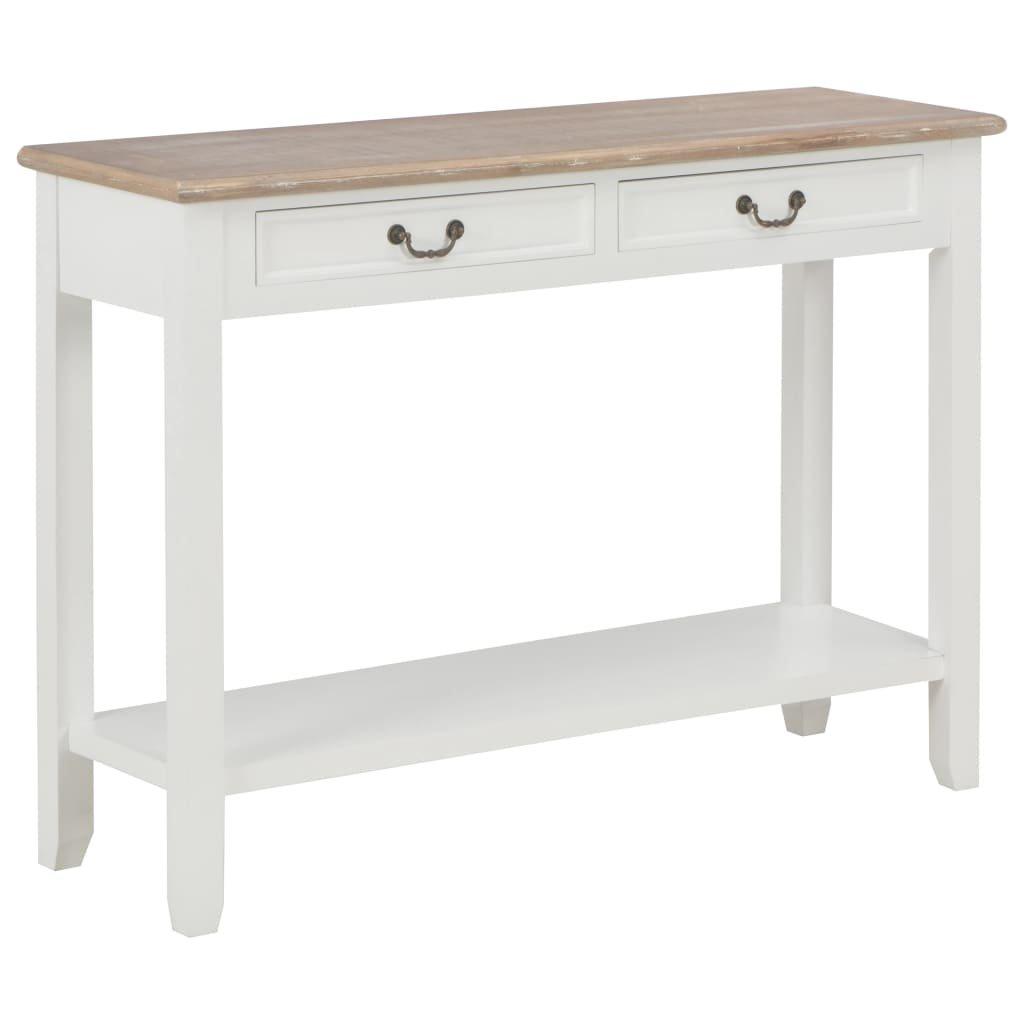 Konzolový stolek Doven - dřevo - bílý | 110x35x80 cm