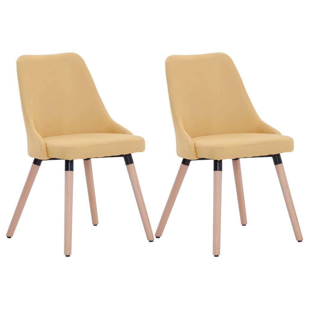 Jídelní židle Austin - 2 ks - textil | žluté