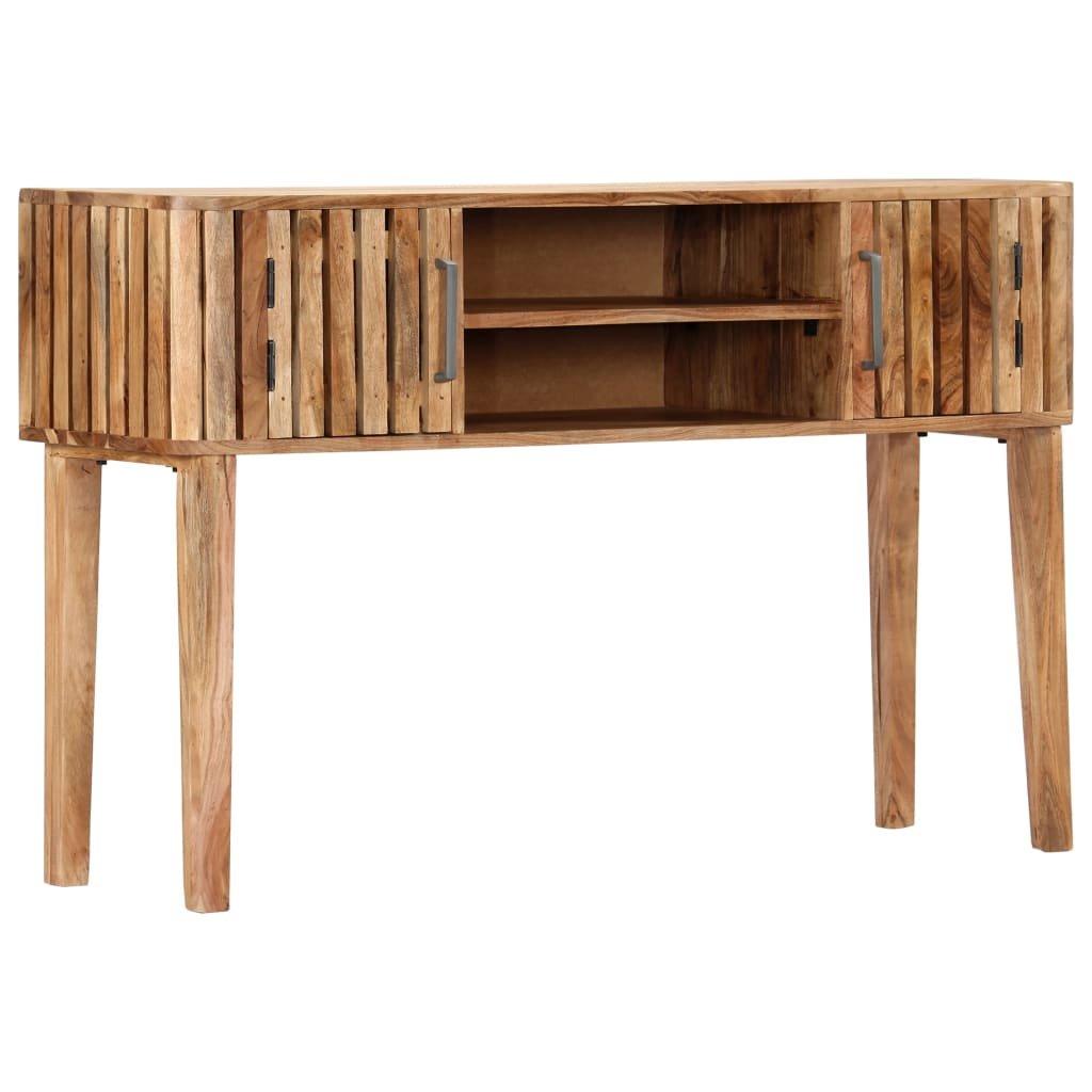 Konzolový stolek - masivní akáciové dřevo | 120x35x76 cm