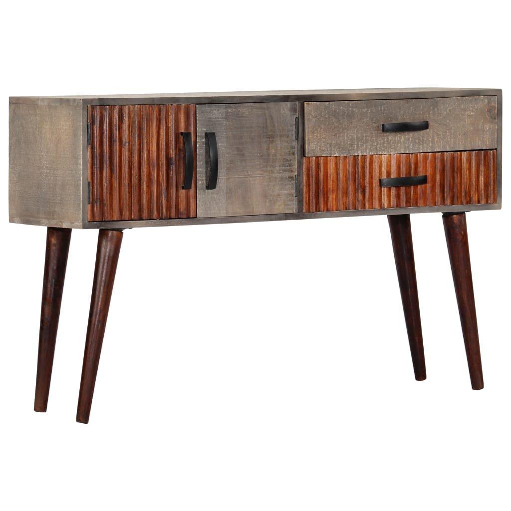Konzolový stolek - masivní hrubý mangovník - šedý | 120x35x75 cm