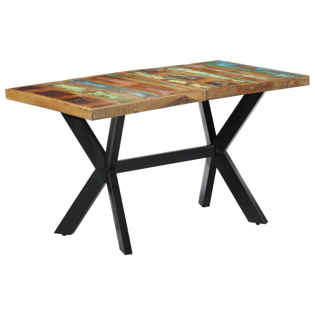 Jídelní stůl Salco - masivní recyklované dřevo | 140x70x75 cm