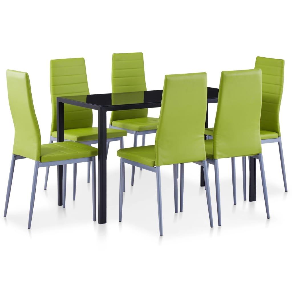 Jídelní set Corryton - 7dílný   zelený