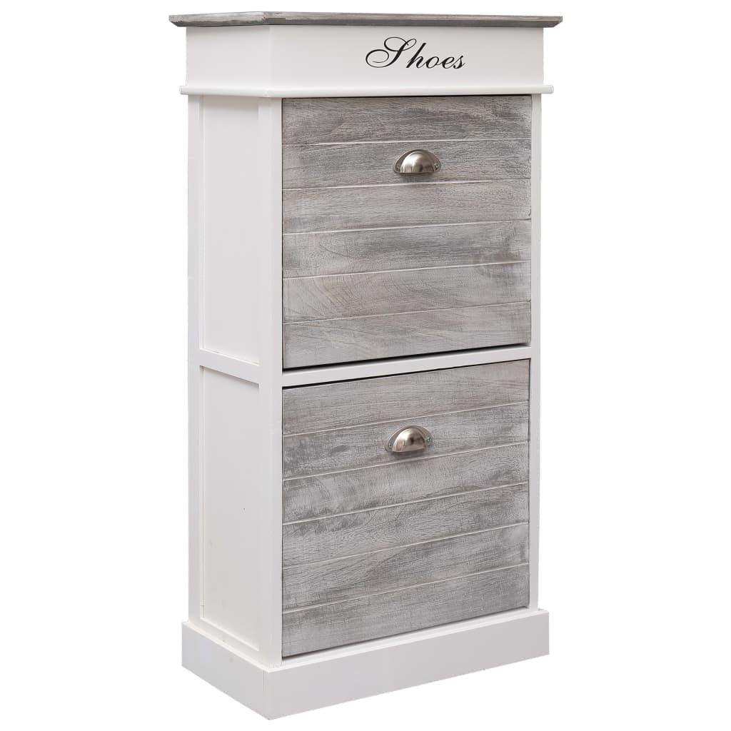 Botník - dřevo pavlovnie - šedý | 50x28x98 cm