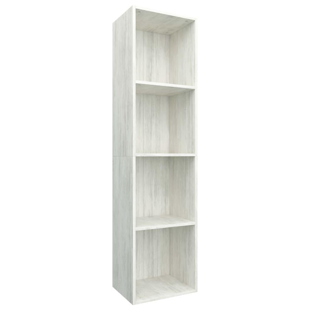 Knihovna/TV skříň - betonově šedá | 36x30x143 cm