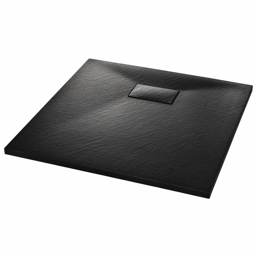 Sprchová vanička SMC - černá   90x90 cm