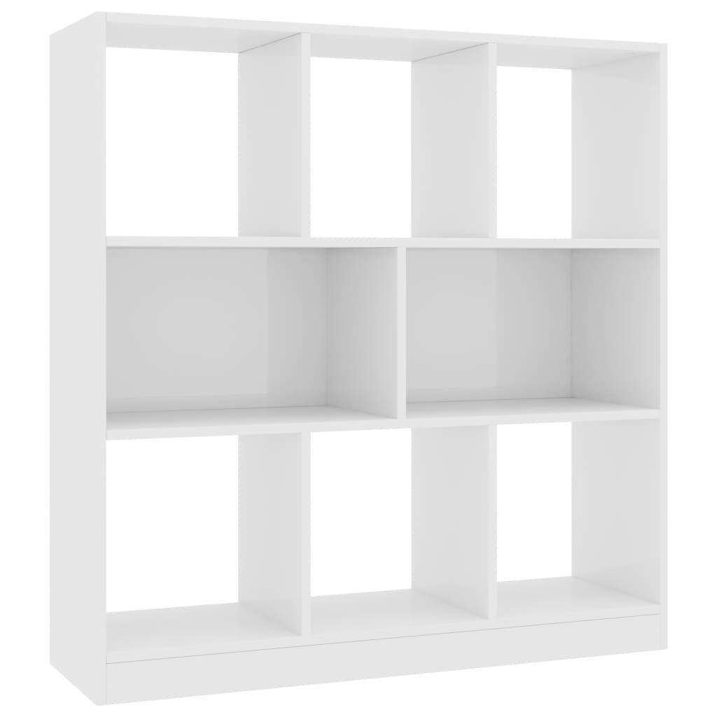 Knihovna - bílá s vysokým leskem   97,5x 29,5 x 100 cm