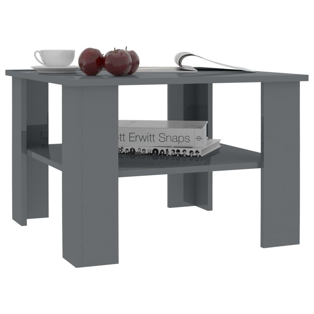 Konferenční stolek Awake - šedý vysoký lesk   60x60x42 cm