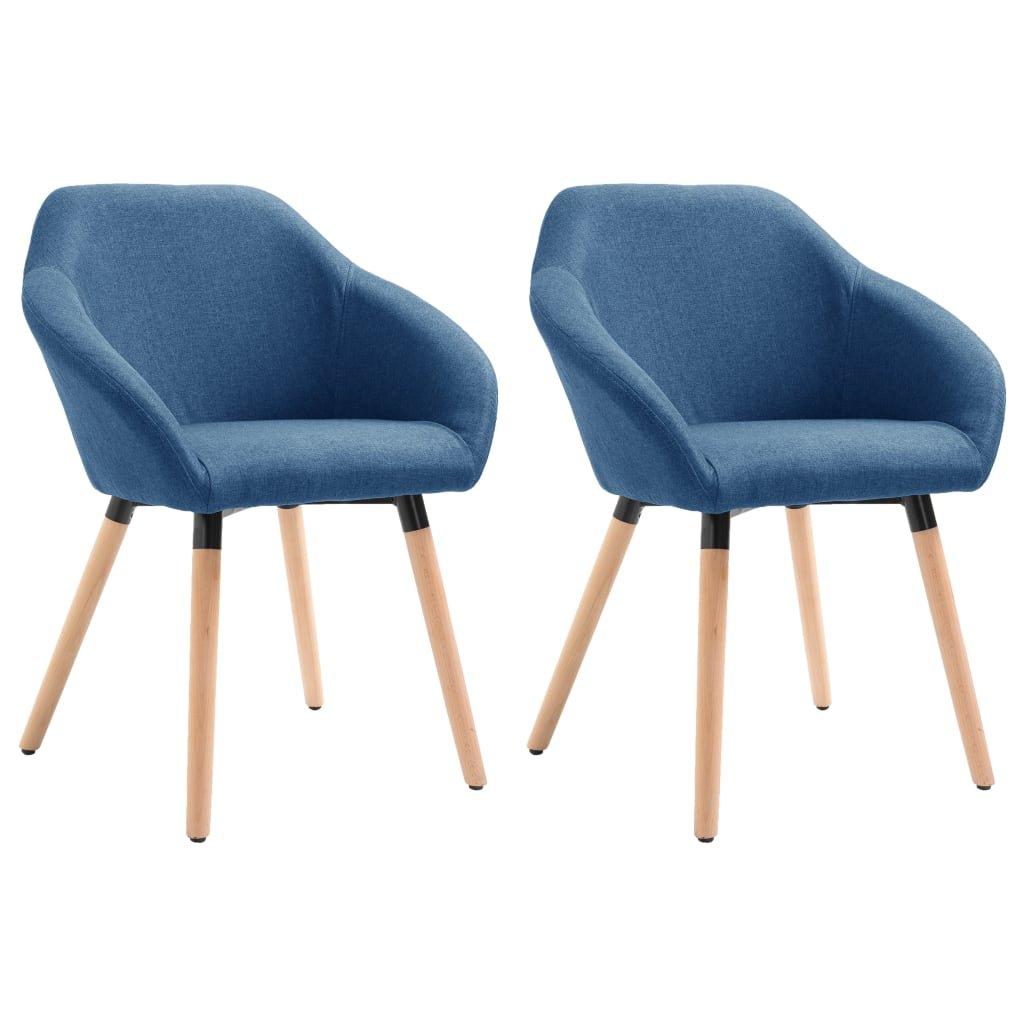 Jídelní židle Gurdon - 2ks - textil | modré
