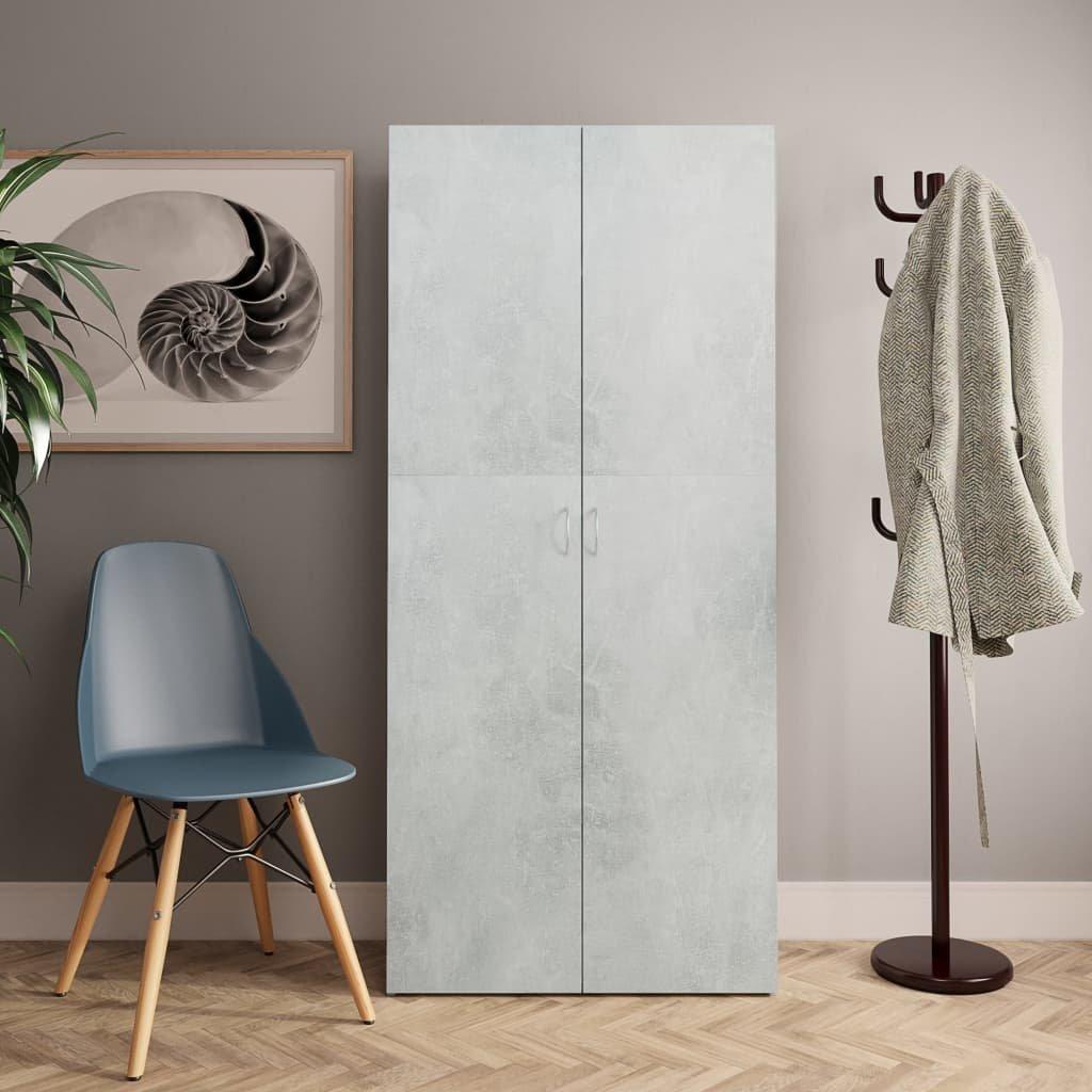 Botník Orphans betonově šedý - dřevotříska   80x35,5x180 cm