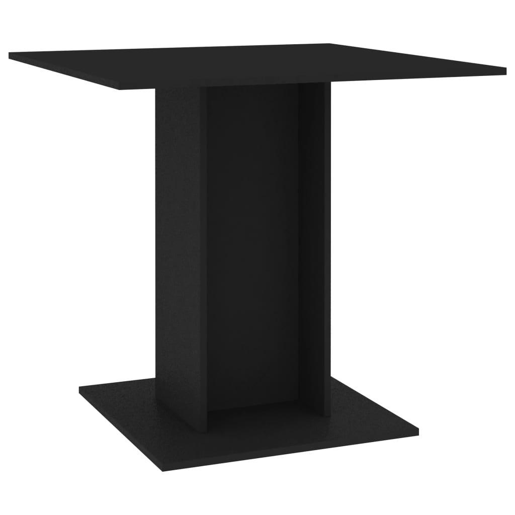 Jídelní stůl Kemmi - černý - dřevotříska | 80x80x75 cm