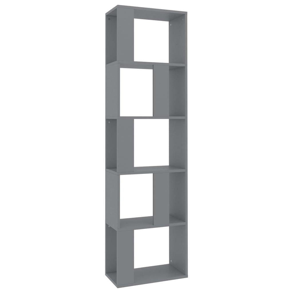 Knihovna/zástěna do pokoje - šedá | 45x24x159 cm