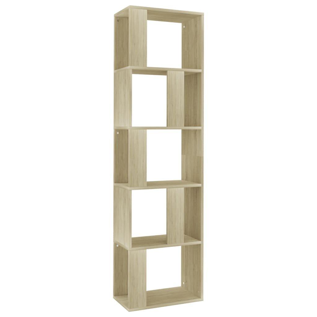 Knihovna/zástěna do pokoje - dub sonoma | 45x24x159 cm