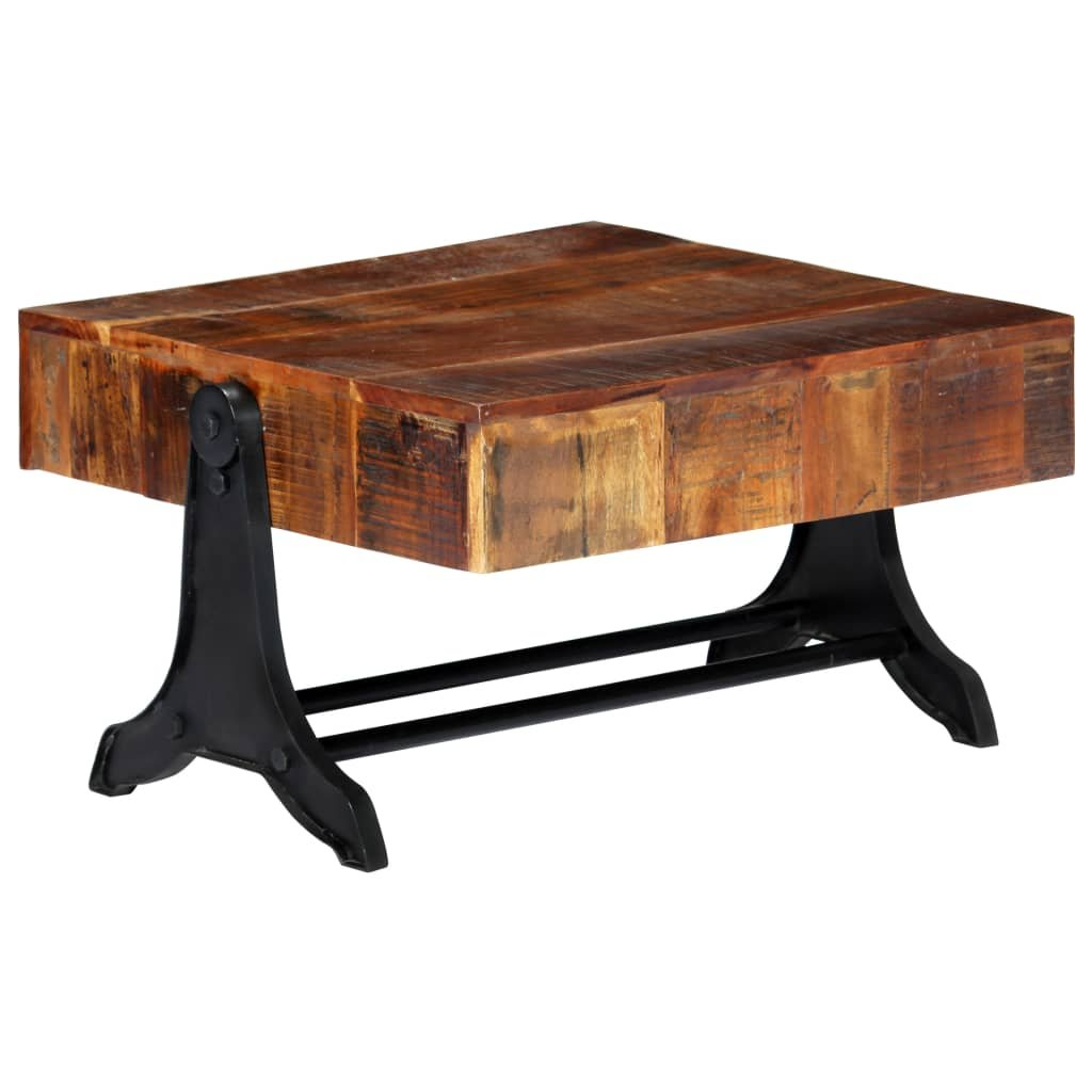 Konferenční stolek -masivní recyklované dřevo | 77x70x40 cm