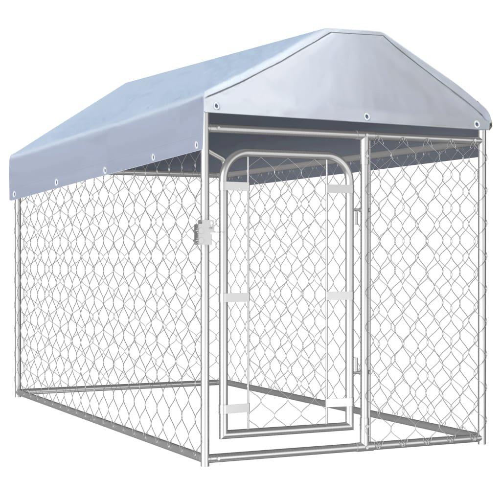 Venkovní psí kotec Reacti se střechou | 200x100x125 cm