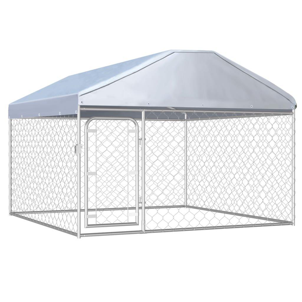 Venkovní psí kotec Reacti se střechou   200x200x135 cm