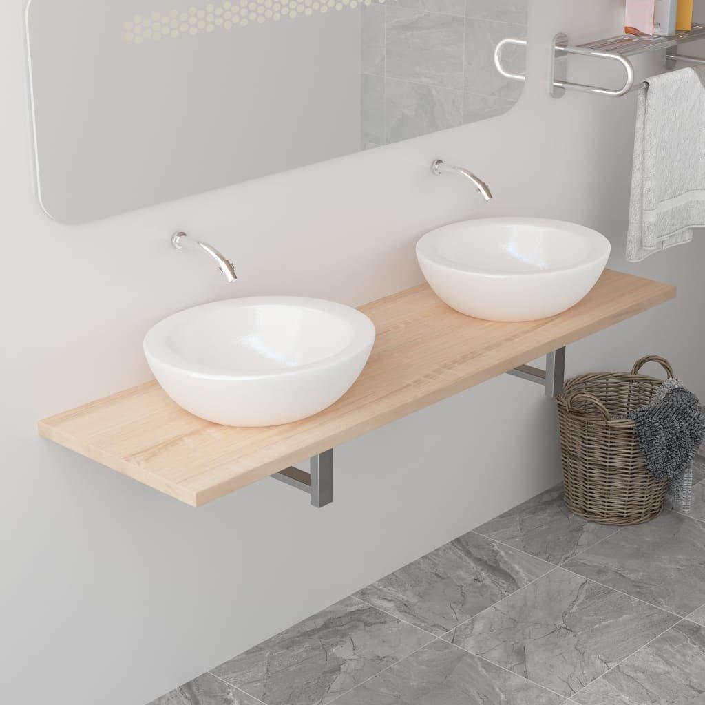 Deska pod umyvadlo - včetně konzole - dub   160x40x16,3 cm