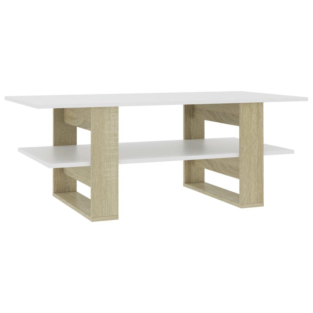 Konferenční stolek bílý dub sonoma -dřevotříska | 110x55x42 cm