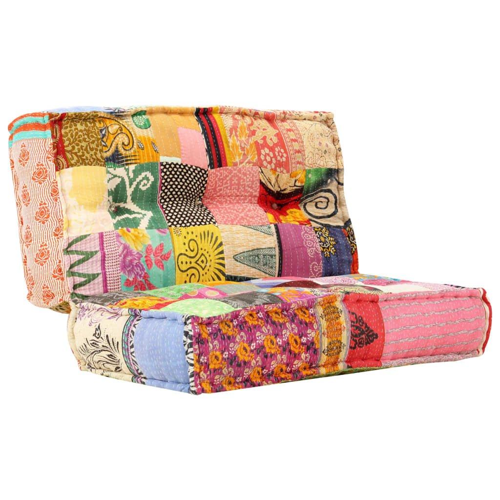 Pohovka Broulee - textil - patchwork   120x120x20 cm