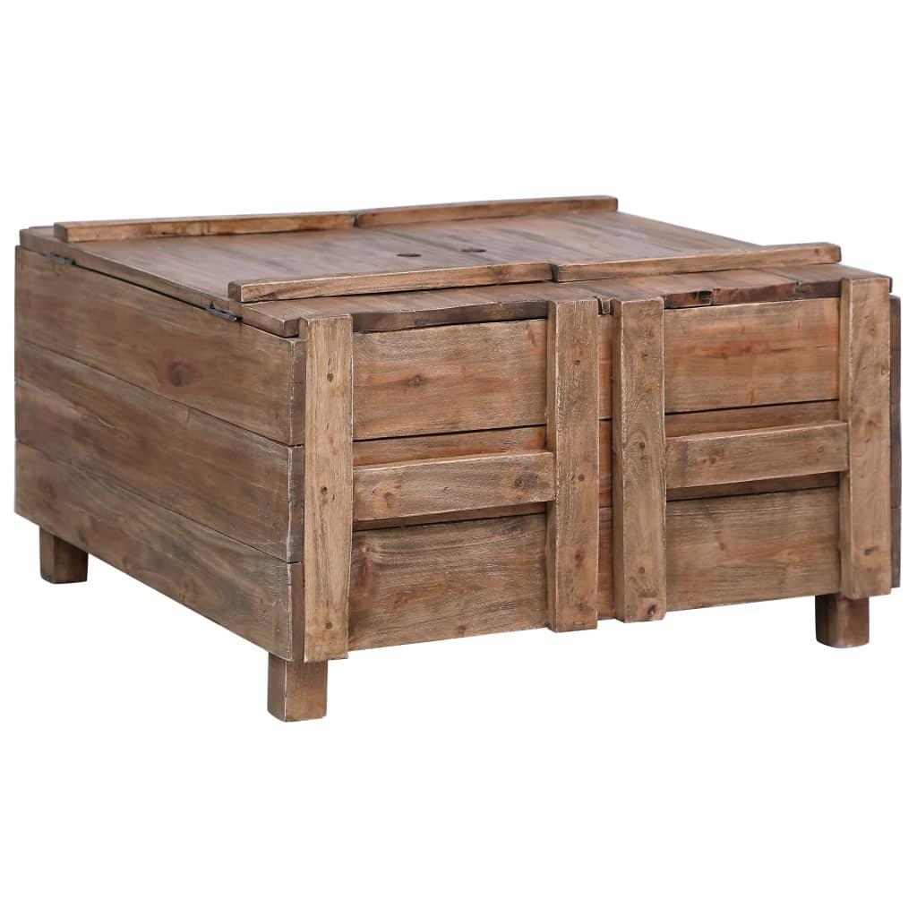 Konferenční stolek Panhandle - 65 x 65 x 38 cm | masivní recyklované dřevo