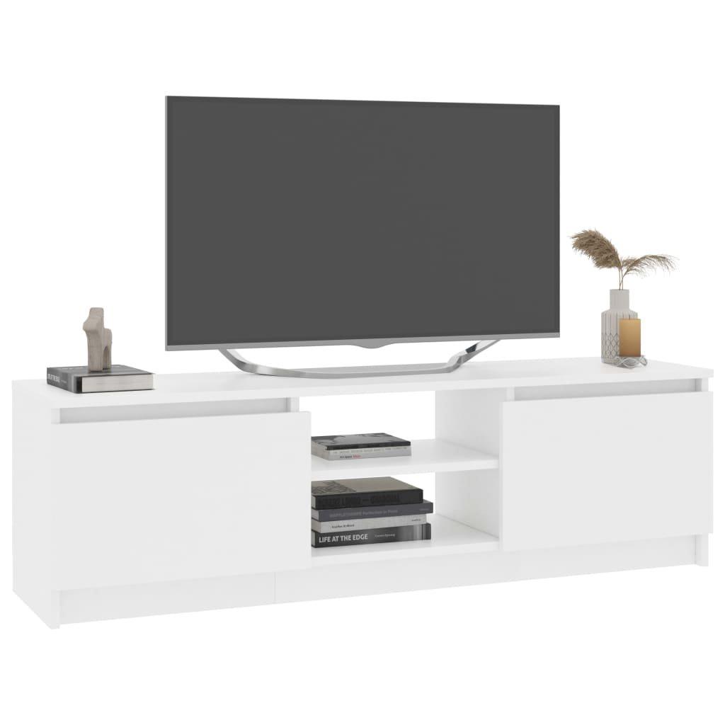 TV stolek Rakby - bílý   120x30x35,5 cm