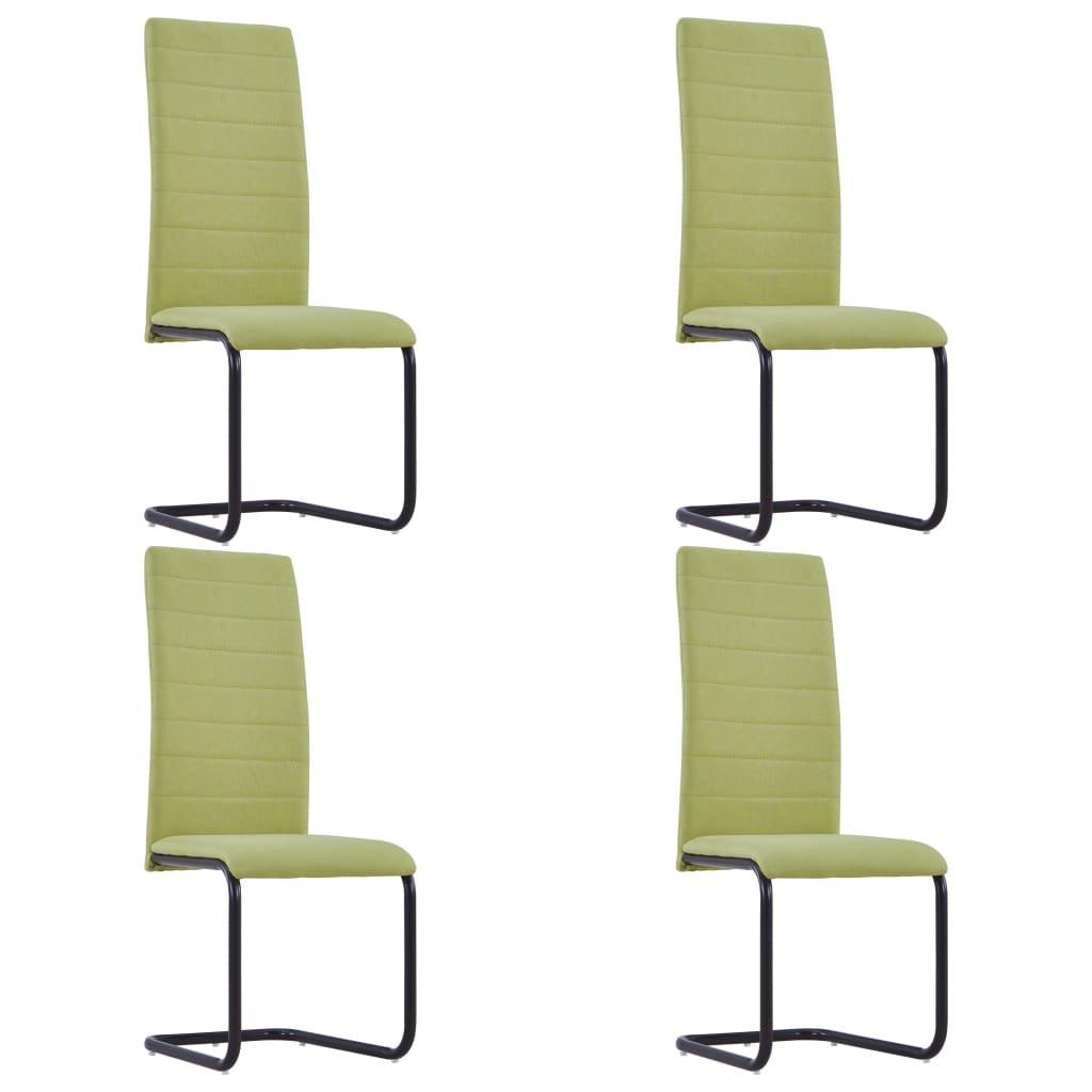 Jídelní židle Apa - 4 ks - textil | zelené