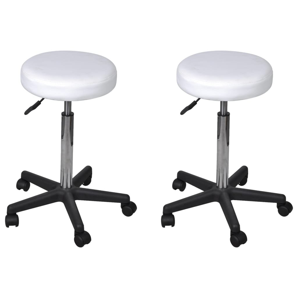 Kancelářské stoličky - 2 ks - 35,5x98 cm   bílé