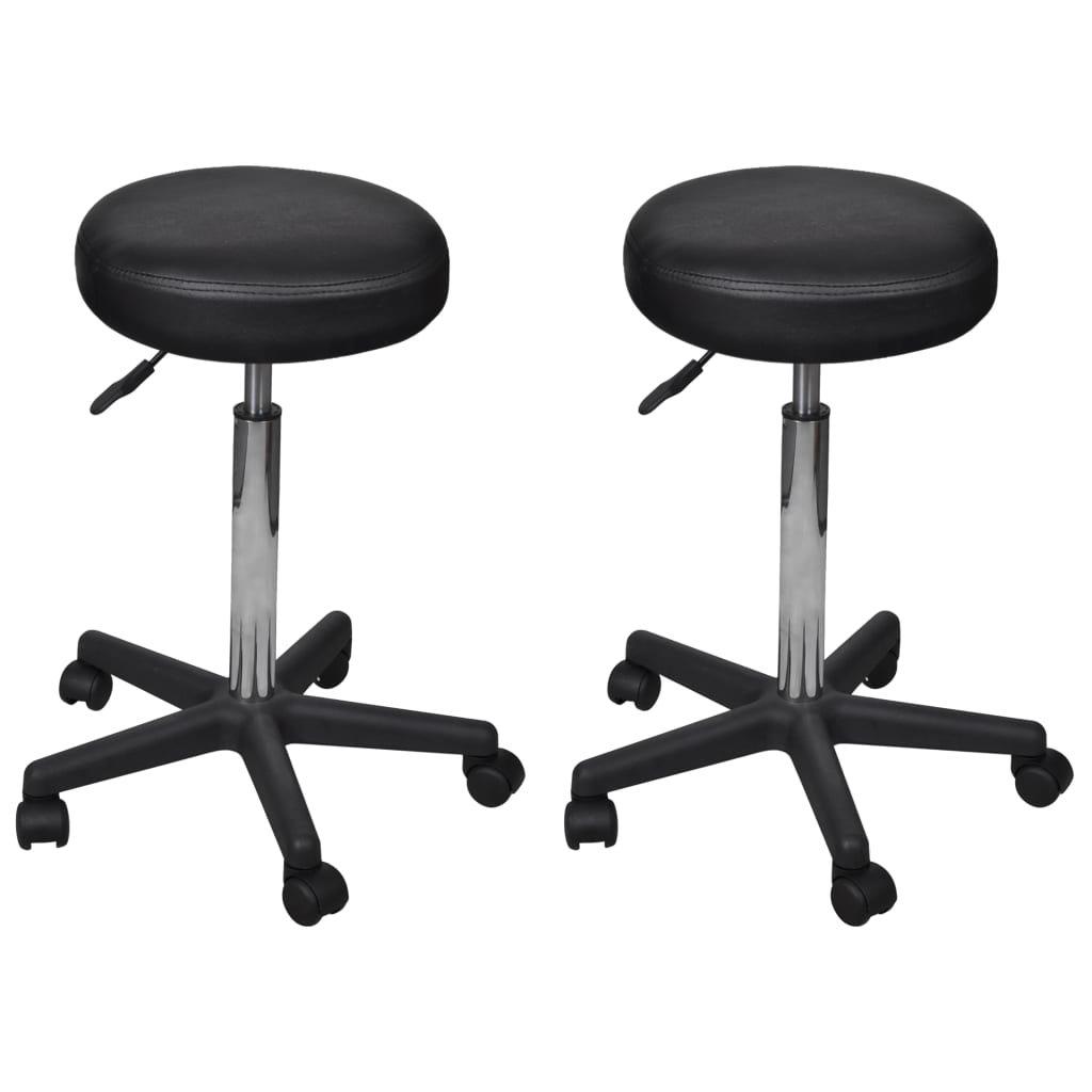 Kancelářské stoličky - 2 ks - 35,5x98 cm | černé