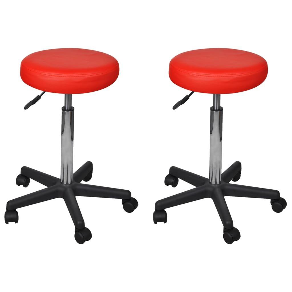 Kancelářské stoličky - 2 ks - 35,5x98 cm | červené