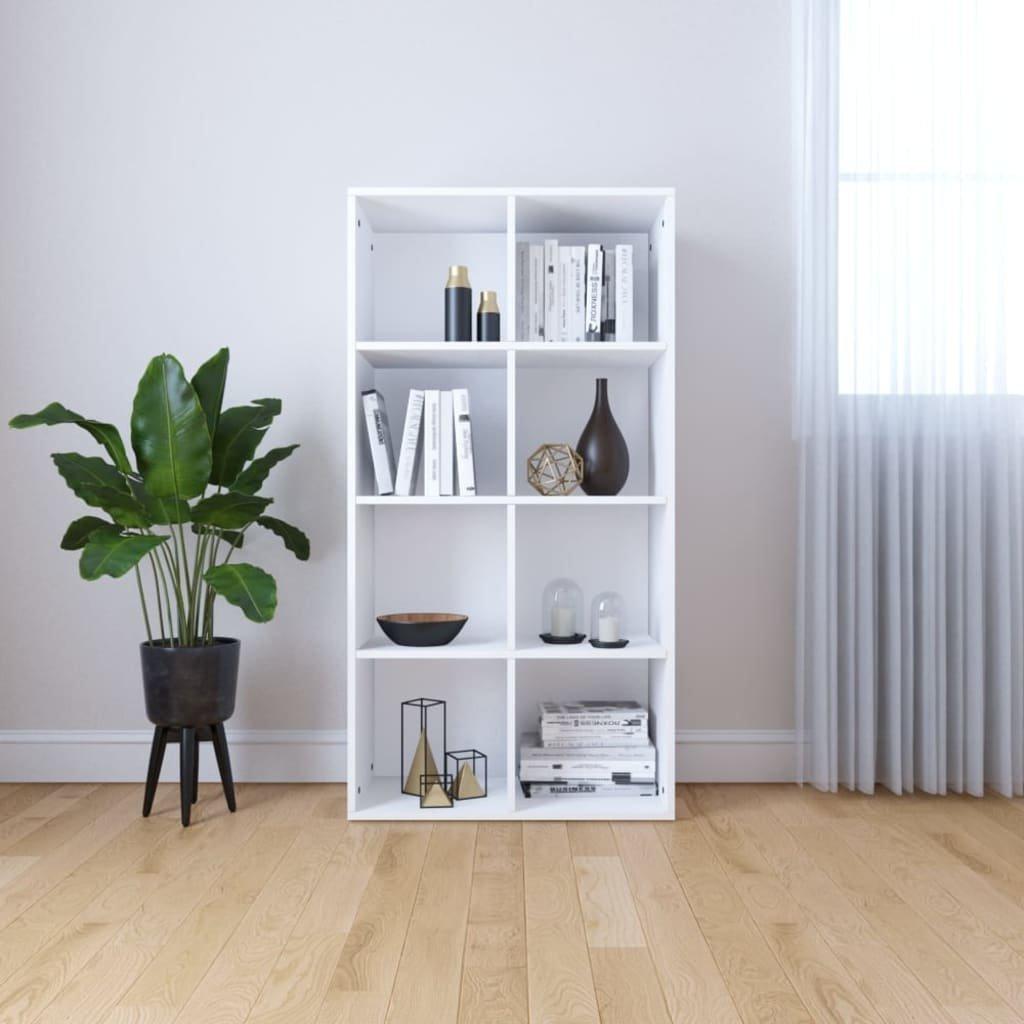 Knihovna/příborník bílá 66 x 30 x 130 cm dřevotříska