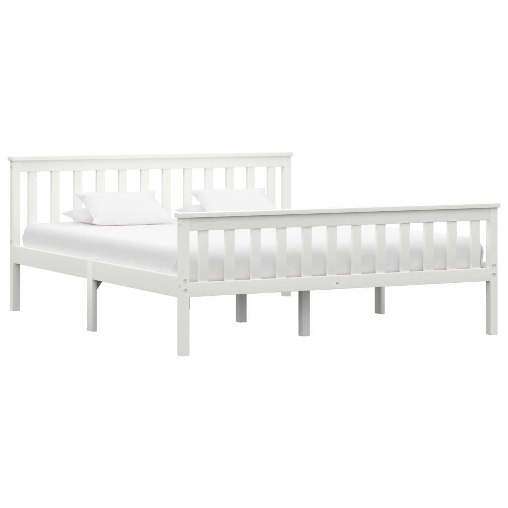 Rám postele Lamar - bílý - masivní borové dřevo   160x200 cm