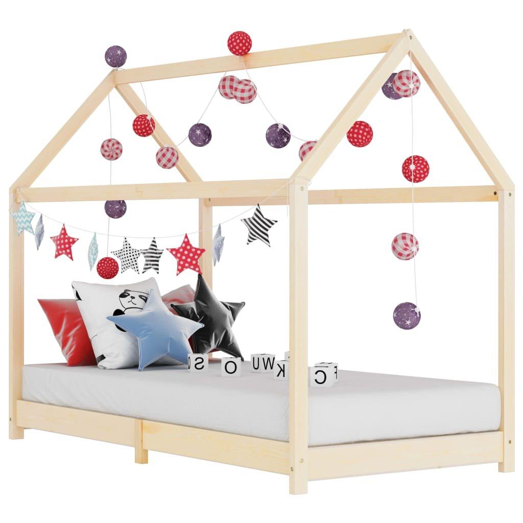 Rám dětské postele - masivní borové dřevo | 90x200 cm