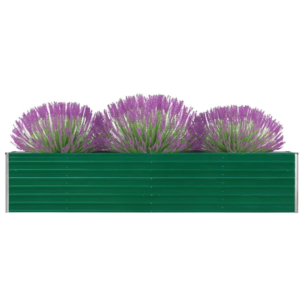 Zahradní truhlík Logan - pozinkovaná ocel | 320 x 80 x 45 cm | zelený