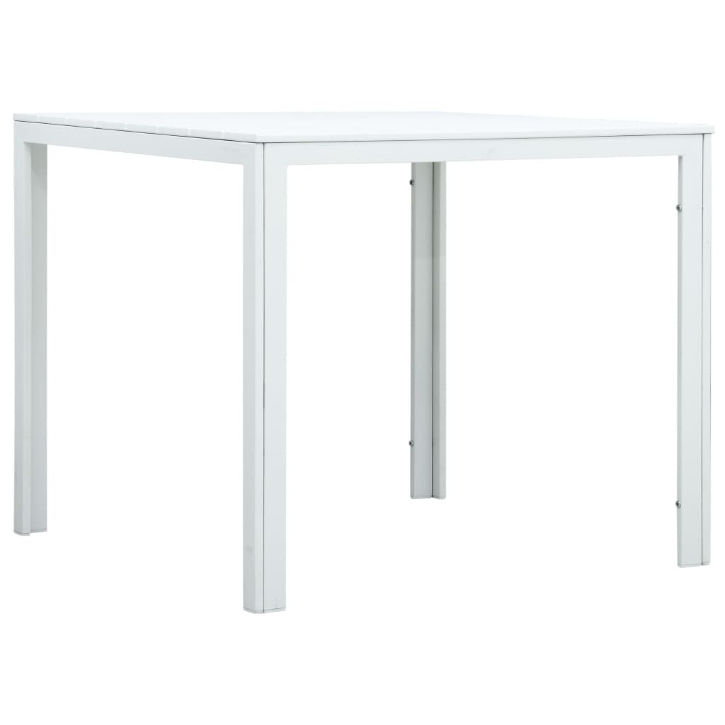Konferenční stolek Breake - bílý 78 x 78 x 74 cm | HDPE - dřevěný vzhled