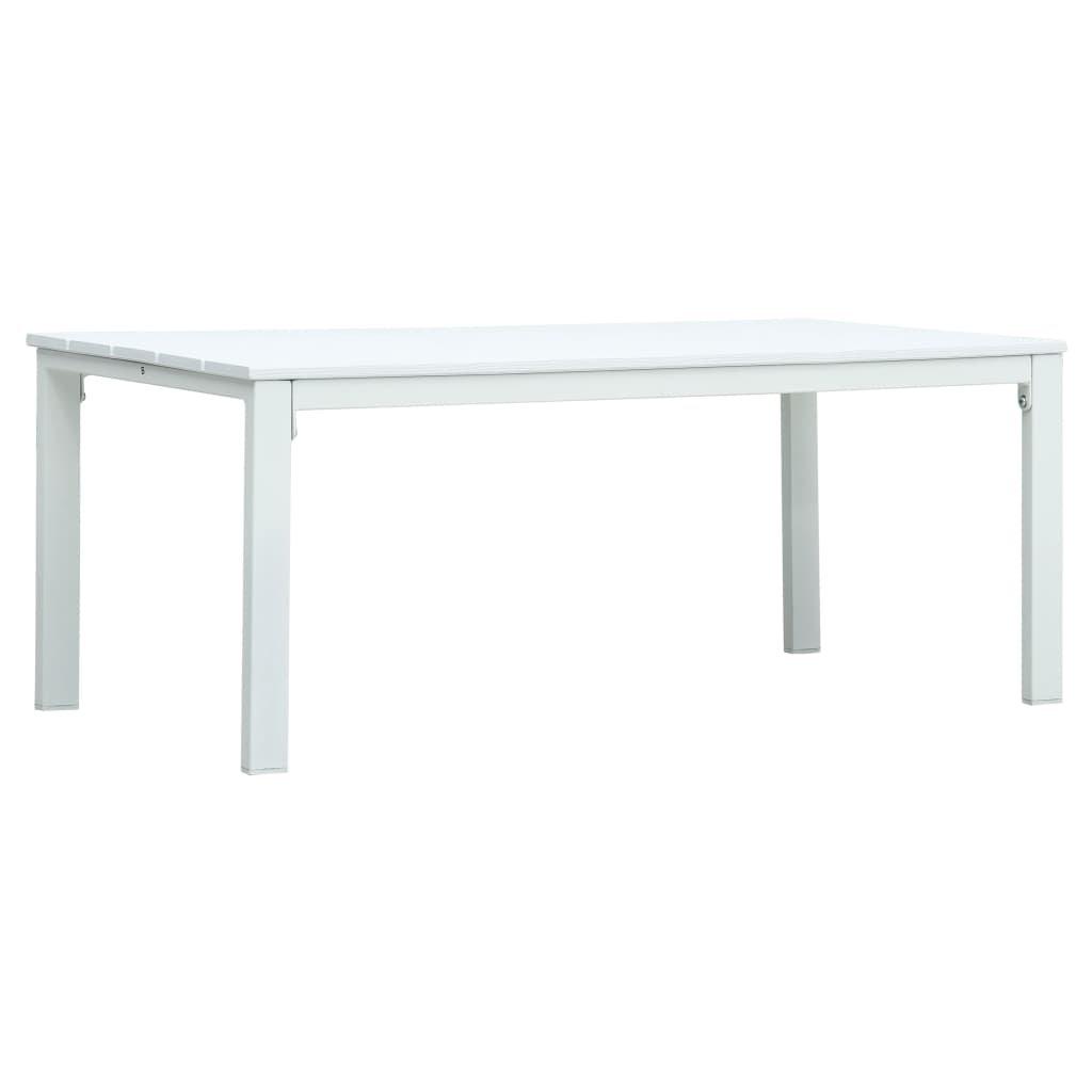 Konferenční stolek Lubers - bílý - 98 x 48 x 39 cm | HDPE - dřevěný vzhled
