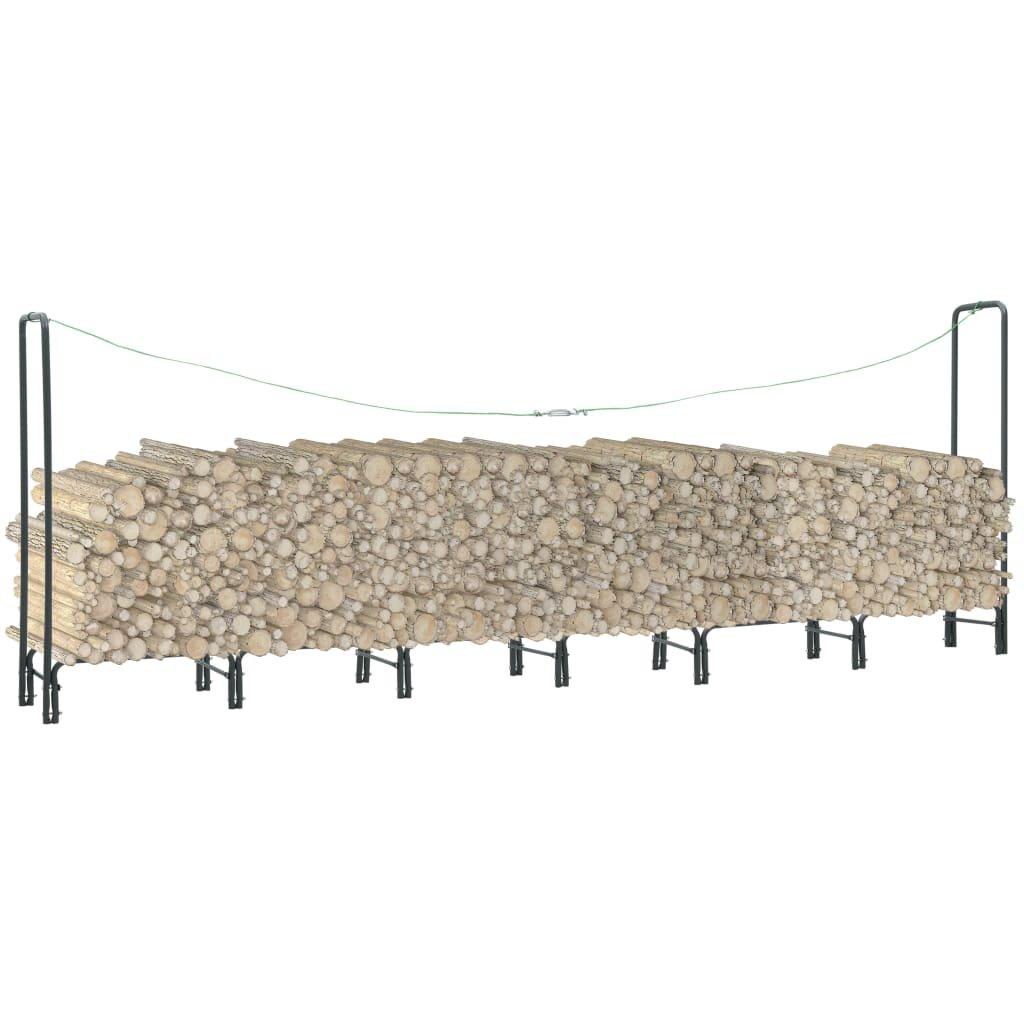 Stojan na palivové dříví - antracitový - ocel | 360x35x120 cm