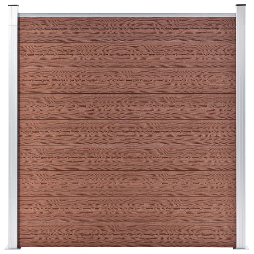 Zahradní plot Atlanta - dřevoplast - 1díl + 2sloupky - 180x186 cm   hnědý