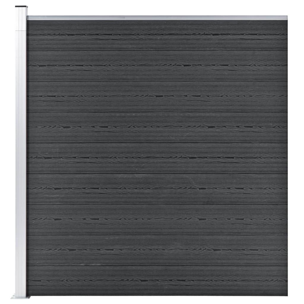 Zahradní plot Atlanta - dřevoplast - 1díl + 1sloupek - 180x186 cm   šedý