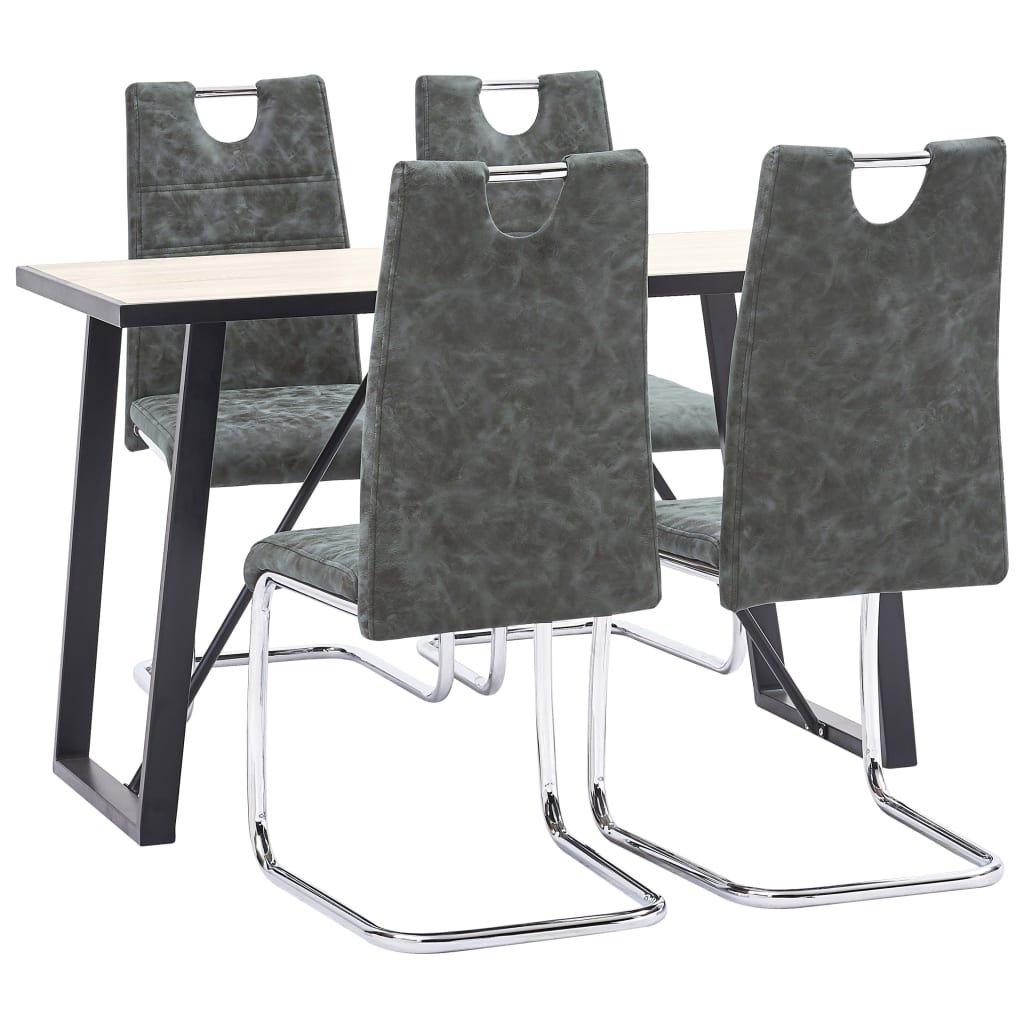 Jídelní set Onaga - 5dílný - umělá kůže | černý