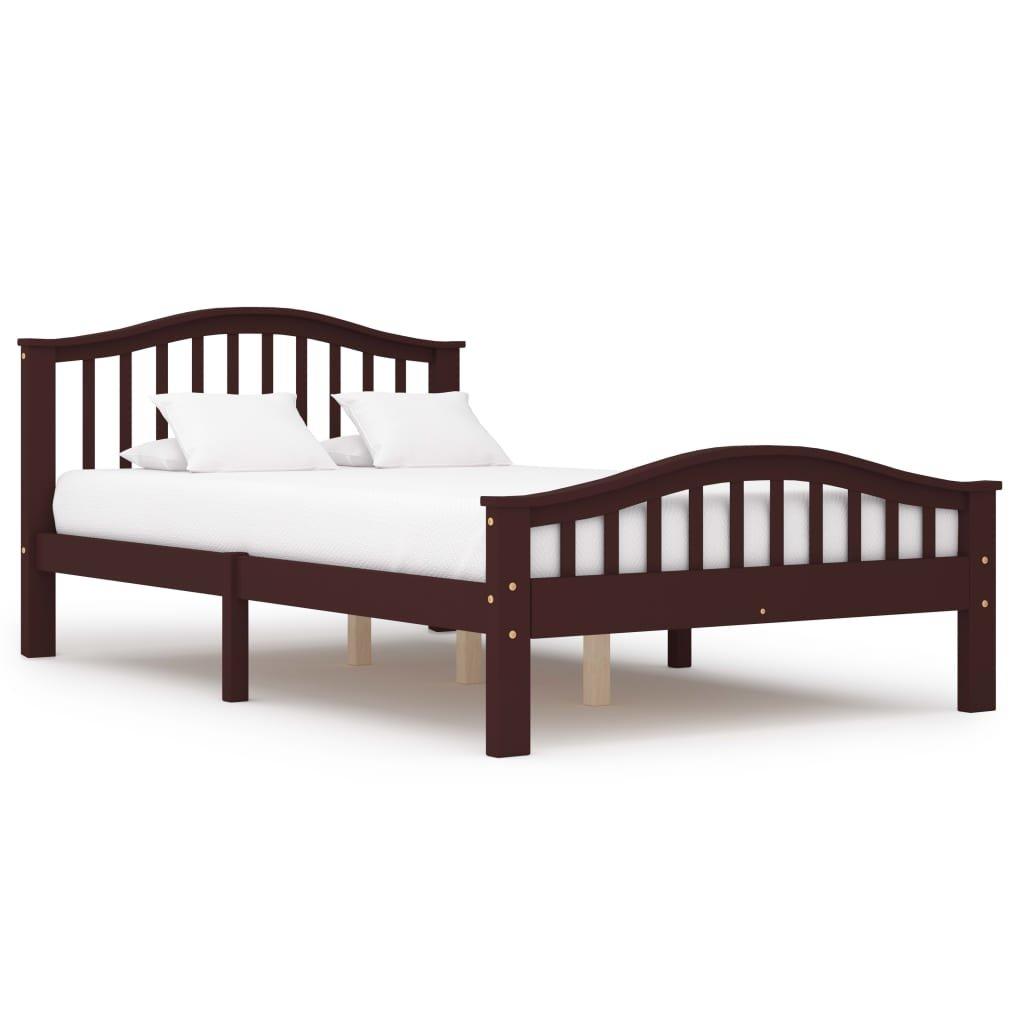 Rám postele Altoona - tmavě hnědý - masivní borové dřevo   120x200 cm