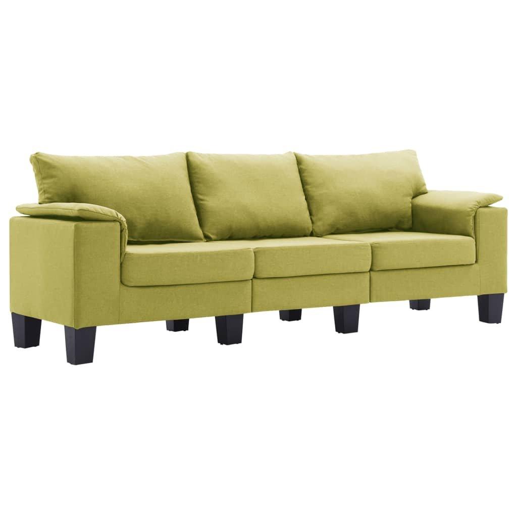 Pohovka Arbela - 3místná - textil | zelená