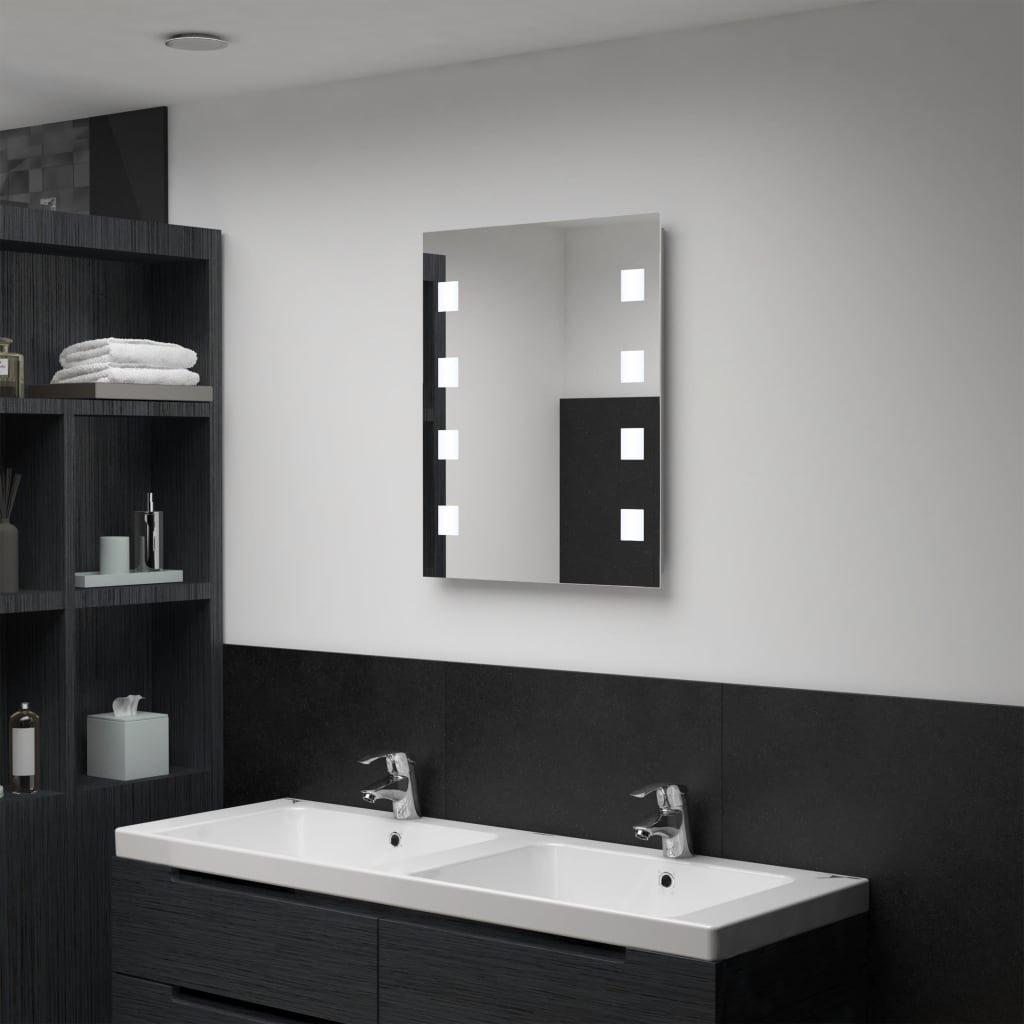 Koupelnové nástěnné zrcadlo IV s LED osvětlením | 50x60 cm
