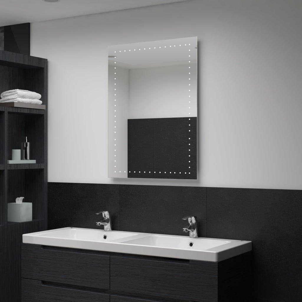 Koupelnové nástěnné zrcadlo (tečky) s LED osvětlením | 60x80 cm