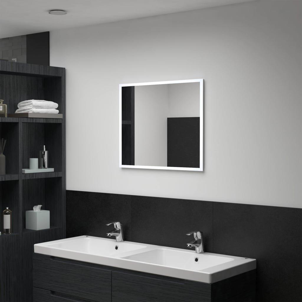 Koupelnové nástěnné zrcadlo s LED osvětlením | 60x50 cm