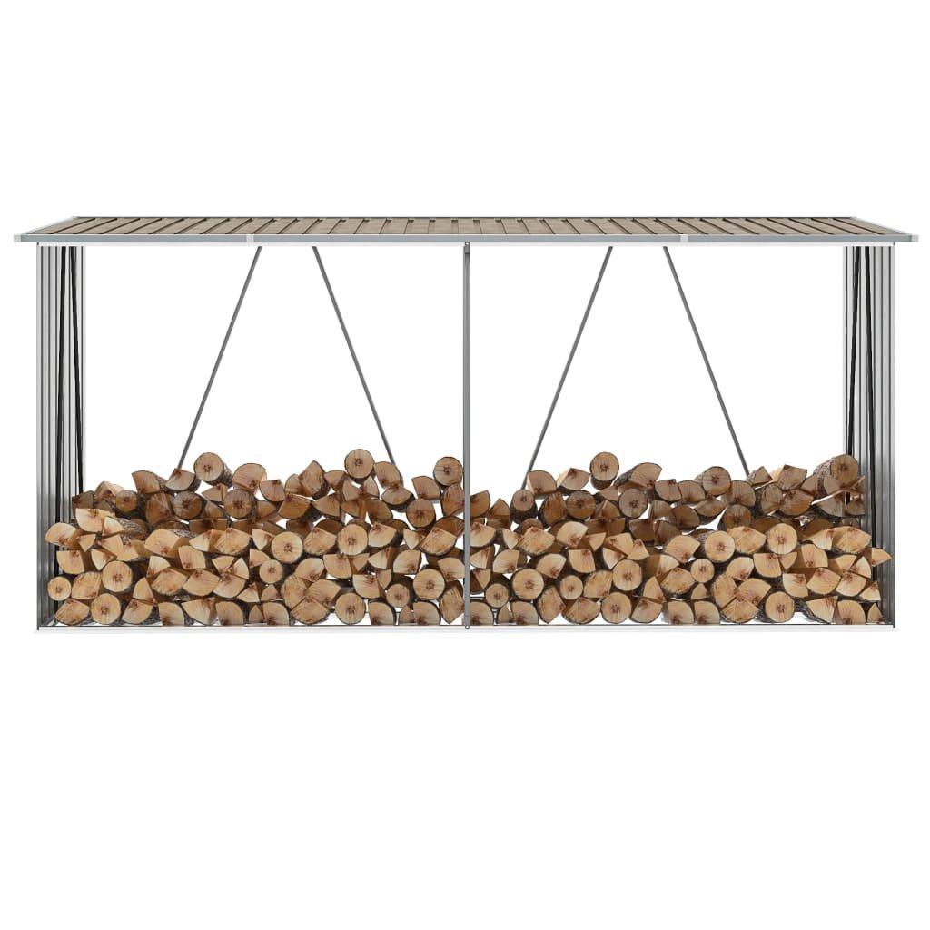 Zahradní kůlna Hendy na dříví - hnědá | 330x84x152 cm
